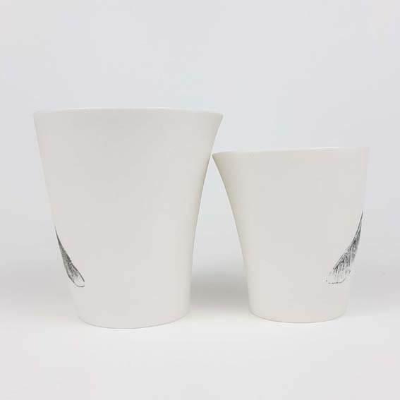 "Kubek porcelanoawy ""Print"" - klon"