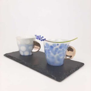 Filiżanka espresso AQUARELL- niebieskie bakterie