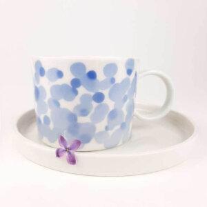 Filiżanka do kawy AQUARELL- niebieskie bakterie