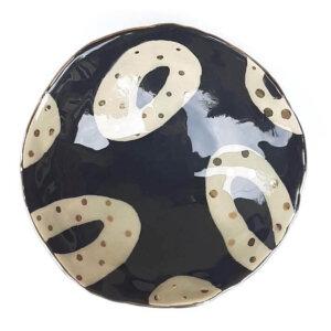 Miseczka okrągła DOT czarna