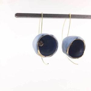 Kolczyki porcelanowe niebieskie