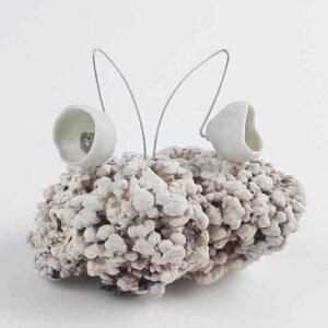 Kolczyki porcelanowe białe